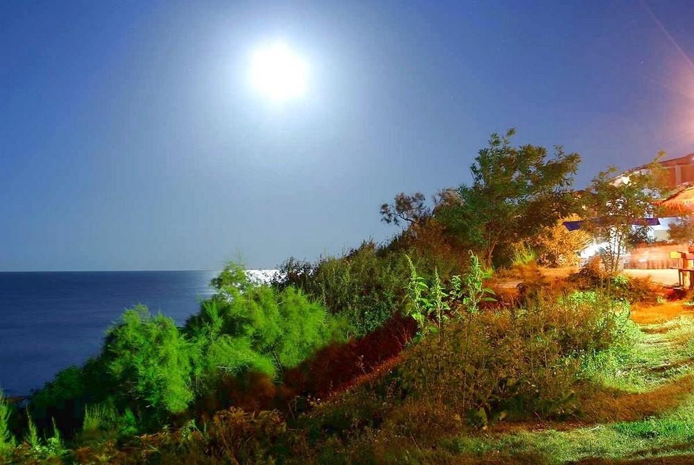 Лунна светлина край морския бряг  - Moonlight der Nähe des Meeres - Лунный свет рядом с морем - Moonlight near the sea